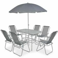 vidaXL 43786 Outdoor Dining Set - Grey (8 Piece)