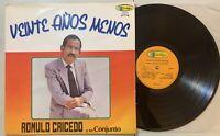 Romulo Caicedo y Su Conj - Veinte Anos Menos LP 1988 Colombia Bolero Ranchera VG