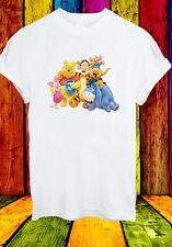 Winnie The Pooh Piglet Eeyore Kanga Tigger Cartoon Men Women Unisex T-shirt 710