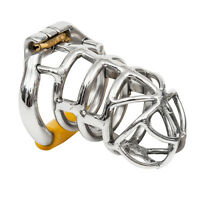 USA SHIP S064 Stainless Steel Male Chastity Cage Device- Large Ring