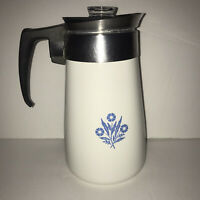Vintage Corning Ware Blue Cornflower10 Cup Stovetop Coffee Pot