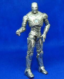 "1:18 Marvel  Iron Man 2 Silver Mark II Movie Series # 02  2010 Action Figure 4"""