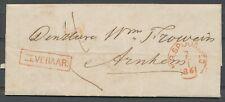 ROOD HALTE ZEVENAAR. OP BRIEF-ARNHEM,ROOD RONDST.N.R. SPOORWEG 7/1 1861  Zi394