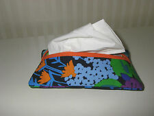 Tissue Holder Made w/ Vera Bradley Midnight Blues Fabric Great Gift