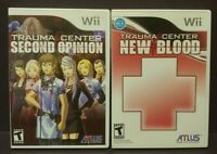 Trauma Center New Blood + Second Opinion - Nintendo Wii + Wii U Games Complete `