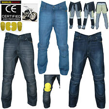 Men Motorbike Skinny Jeans Pants With Protective Lining And CE Approved Armour