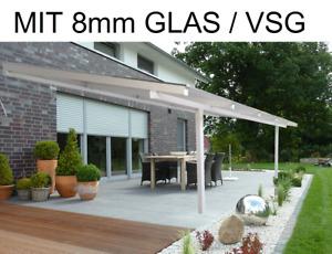 Alu Terrassenüberdachung 8mm Glas VSG Terrassendach Carport Überdachug Terrasse