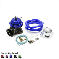 """UNIVERSAL TYPE-RS TURBO BLOW OFF VALVE  ADJUSTABLE BOV+2.5"""" FLANGE PIPE BLUE"""