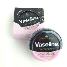 2 Vaseline Lip Therapy Lip Balm Pink Bubbly, Limited Edition, 0.6 oz Tin