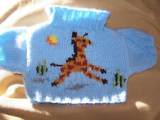 BN HAND KNITTED  JUMPER WITH GIRAFFE IN JUNGLE TO FIT BUILD A BEAR