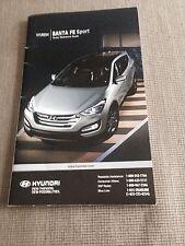 2012 Hyundai Santa Fe Quick Reference Guide Manual