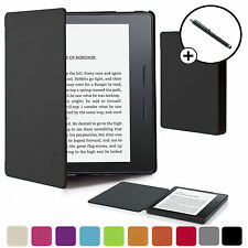 Forefront Cases® Black Shell Smart Case Cover for Amazon Kindle Oasis Stylus