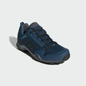 Adidas Mens Shoes TERREX AX3 MEN'S HIKING Marine Blue Grey OUTDOOR Size 10.5