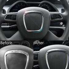 Car Chrome Steering Wheel Emblem Trim Frame For AUDI A4 B6 B7 B8 A5 A6 C6 Q5 Q7