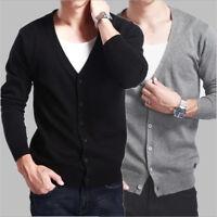 2019 NEW Cashmere Sweaters Men's Knitted Cardigan Slim Short Korean Sweater Coat