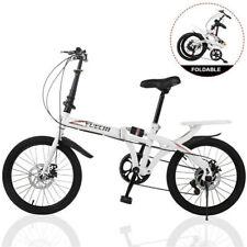 """Full Suspension Folding Bike 20"""" Wheels 7 Speed Gears Disc Brakes Alloy Lightwei"""