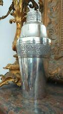 Rare cocktail Shaker Argent Massif sterling vers 1920 origine Vietnam