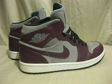 Air Jordan 1 Phat 364770-605 Bordeaux/Stealth-Black-White size 8 Nike 2012
