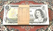 Canada 1973 One 1$ Dollar Bank Note Bundle of 100