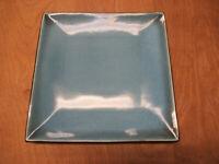 "Threshold ELEMENTAL OCEAN Square Dinner Plate 10 3/4"" Blue    3 available"