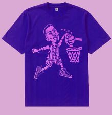 Fnly94 Purple Pink Lil Penny Hardaway cartoon basketball shirt graphic tee