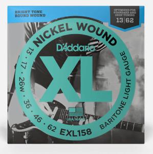 D'Addario EXL158 Nickel Wound Elec. Guitar Strings. (For DROP D) Gauge: 13-56