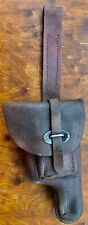 Old leather case holster for pistol ACP.45 type used by Argentine Armed Forces