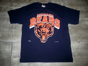 Vintage 1995 Nutmeg Made in USA Chicago Bears NFL T-shirt Tee Men's Size XLarge