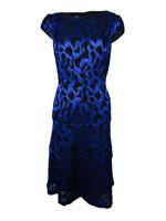 Anne Klein Women's Crinkled Brocade Sheen A-Line Dress