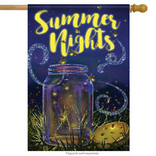 "Summer Night Lights House Flag Decorative Double Sided Banner 28"" x 40"""