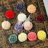 6/12pcs Vintage Resin Flatback Cabochons Flower Embellishment 15mm MGRB0536