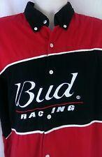 Bud Racing Shirt Dale Jr. Button Up Men's Size 3 XL Nascar Earnhardt Budweiser