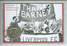 Liverpool Vintage Bob Paisley European Cup Final Winners Coin Fan Gift Set 1981