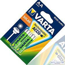 Varta Akku  Batterie Phone Solar AA AAA Baby C Mono D 9V Block Accu s Knopfzelle