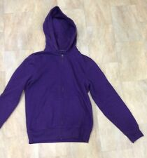Mens H&M Purple Zip Up Long Sleeve Hoodie Cotton Blend Size S