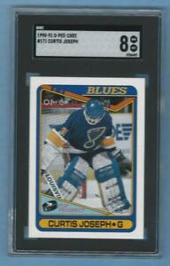 1990-91 O-Pee-Chee Curtis Joseph Rookie #171 Graded Card SGC 8 Blues