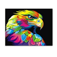 AU 50x40cm DIY Paint by Number Kit Eagle Animals on Canvas Home Framed
