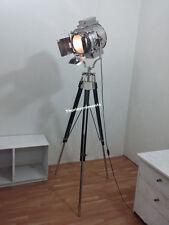 ROYAL DESIGNER NAUTICAL CHROME SPOT LIGHT TRIPOD  LAMP MODERN SEARCHLIGHT