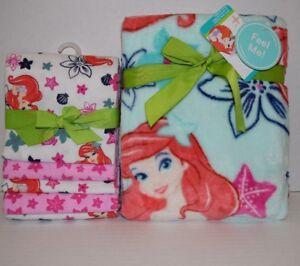 The Little Mermaid: Ariel Sea Treasures Flannel & Plush Blanket by Disney Baby