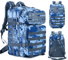Tactical Backpack - 55L Capacity - Security, Hiking, Cycling, Travel - Multiple
