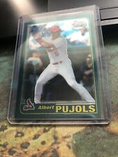 2001 Topps Chrome Traded T247 Albert Pujols Cardinals Rookie RC