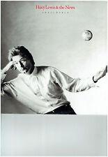 HUEY LEWIS & THE NEWS LP ALBUM SMALL WORLD