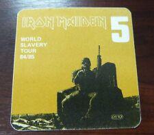 Iron Maiden-World Slavery Tour 1984/1985 - VIP/Backstage Pass-Inutilisé -