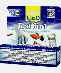 Tetra Test Strips 6 In 1 Aquarium Water Ph Tester Fish Tank Test Kit 25 Pack