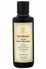Khadi Natural Herbal Amla Bhringraj Shampoo/Cleanser, 210ml