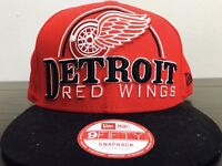 New Era Detroit Red Wings Red NHL 9FIFTY SnapBack Cap Hat