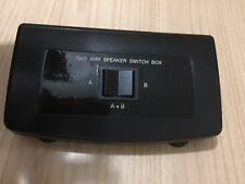 Two Way Speaker Switch Box A&B