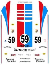 #59 BRUMOS PORSCHE 1/43rd Scale Slot Car Decals