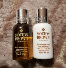 MOLTEN BROWN black peppercorn body wash and body lotion 30ml travel size