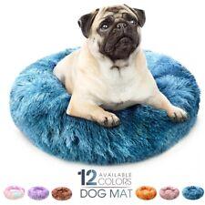 New Super Soft Breathable Pet Mat Round Washable Long Plush Dog Kennel Cat House